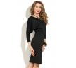 черное платье с рукавом летучая мышь