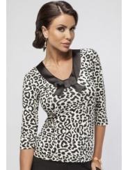 Леопардовая блузка Enny 16005