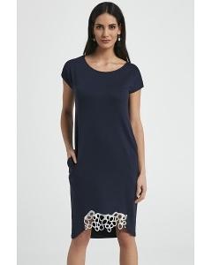 Тёмно-синее платье Ennywear 250038