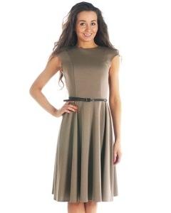 Платье кофейного цвета