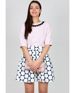 Бело-синяя юбка Emka Fashion 475-taylor