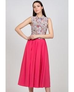 Длинная розовая юбка Emka Fashion 543-lobida