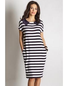 Платье в модную полоску TopDesign A6 008