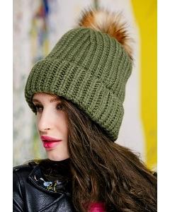 Женская шапка с помпоном SuperShapka Bambina