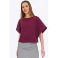 Фиолетовая укороченная блузка с широким рукавом Emka B2202/latifa