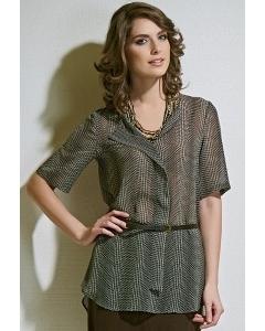 Тонкая полупрозрачная блузка TopDesign A4 131