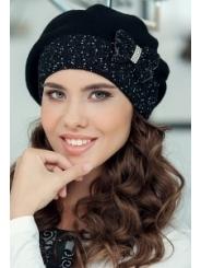 Чёрная женская шапка цвета Landre София