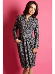 Чёрно-серое платье TopDesign B5 014