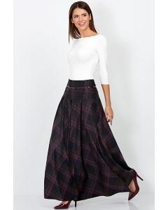 Длинная юбка в клетку Emka Fashion 427-lolita