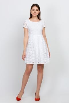Белое хлопковое платье Emka Fashion PL-498/sisley