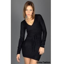 Маленькое черное платье Yiky Fashion