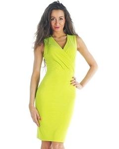 Потрясающее платье цвета лайм