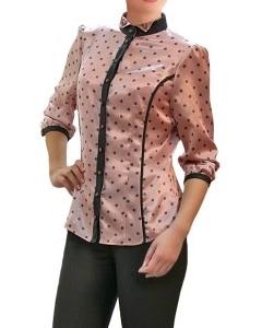 Атласная блузка Golub | Б860-1786-1644
