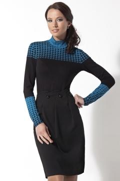 Черно-синий джемпер TopDesign | B2 166
