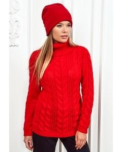 Женский свитер красного цвета Andovers Z299