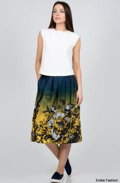 Летняя юбка Emka Fashion 474-tekla