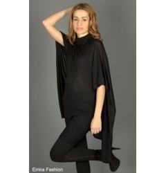 Платье-туника черного цвета