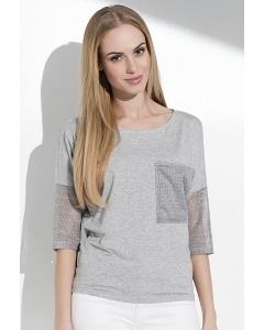 Блузка с рукавами из сетки Sunwear I31-4-04