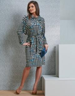 """Платье с узором """"гусиные лапки"""" TopDesign B4 060"""