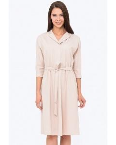 Платье с V-образным вырезом приталенного силуэта Emka PL-576/deniz
