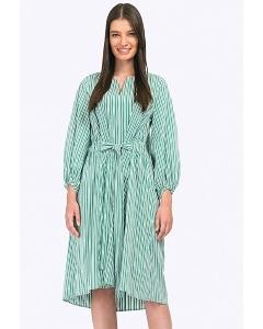 Платье-миди рубашечного покроя в полоску Emka PL772/smile