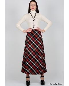 Макси-юбка в клетку Emka Fashion 314-odri
