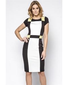 Трикотажное платье с геометрическим рисунком Enny 230145