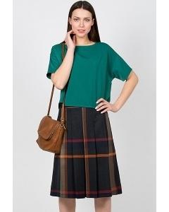 Чёрно-белая юбка Emka Fashion 565-raida