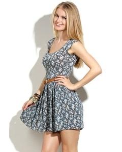 Короткое трикотажное платье | DSP-15-65t