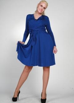 Весеннее платье синего цвета