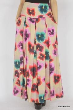 Летняя длинная юбка Emka Fashion 427-plauna