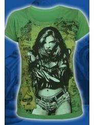"""Зеленая женская футболка """"Burn girl"""""""