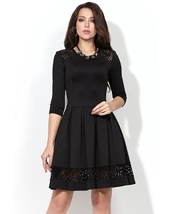 Платье чёрного цвета Donna Saggia DSP-220-4t