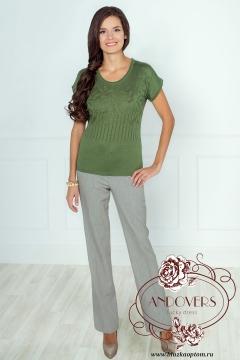 Блузка оливкового цвета Andovers 205508