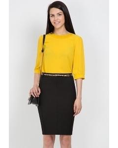 Черная офисная юбка Emka Fashion 466-brianna