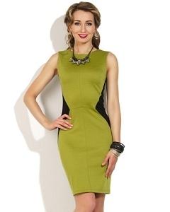 Черно-зеленое платье Donna Saggia DSP-10-59t