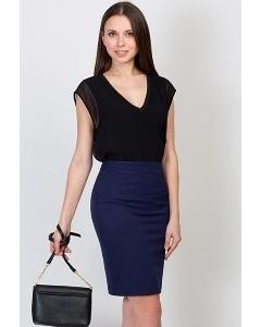 Юбка тёмно-синего цвета цвета Emka Fashion 558-rufina