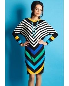 Полосатое платье TopDesign B5 005