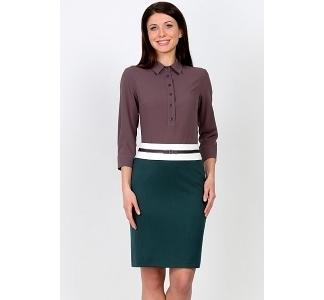 Тёмно-зеленая юбка Emka Fashion 535-folixa