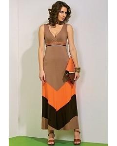 Длинное платье без рукавов TopDesign A4 037