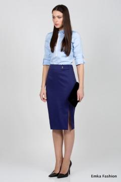 Юбка-карандаш синего цвета Emka Fashion 422-sheron