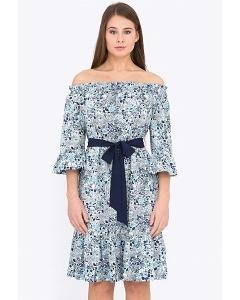 Летнее платье из натурального хлопка Emka PL-627-1/hilda