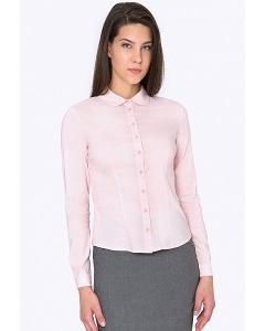 Розовая рубашка с круглым воротничком Emka b 2264/apreliya