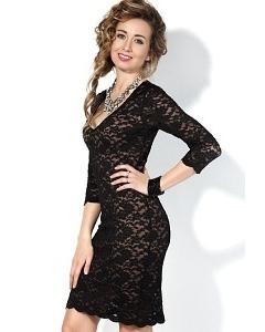 Короткое платье с гипюром Donna Saggia DSP-80-4t