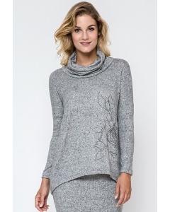 Женский свитер светло-серого цвета Enny 240180