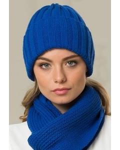 Васильковая женская шапка Landre Берлин