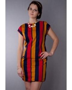 Полосатое платье Golub | П192-1910