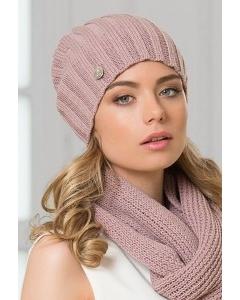 Женская шерстяная шапка розового цвета Landre Токио