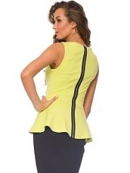 Модная блузка без рукавов | DSB-15-32t