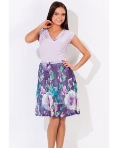 Летнее комбинированное платье | 1646